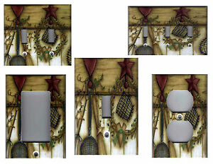 Country Kitchen Barn Star With Heart Home Decor Light Switch Plates And Outlets Ebay