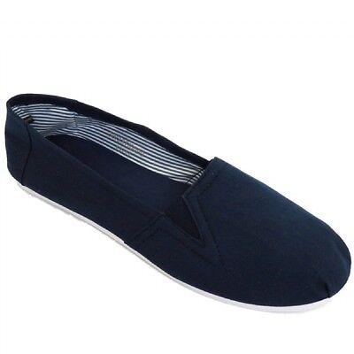 Mens resbalón en Alpargatas Bombas Zapatillas De Tenis Zapatos De Lona entrenador plana Slip On