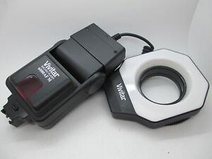 Vivitar Macro Flash Ring 6000AF M Minolta Electronic Flash Unit - Tested Working