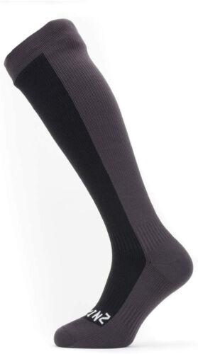 Large Black//Grey SEALSKINZ Unisex Waterproof Cold Weather Knee Length Sock