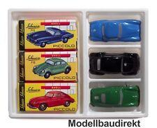 Piccolo Geschenkset Edition Porsche 356 + VW Käfer + Mercedes 190 Schuco NEU&OVP