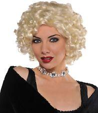 Ladies Blonde Marilyn 50s Star Wig Charleston Flapper Pop Star Fancy Dress