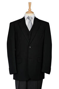 "Freemasons Black Herringbone Wool Jacket 48/"" Regular"