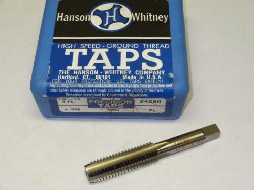 new HANSON WHITNEY 1//2-13 NC H11 .005 4FL Plug 4-Flutes HSS Hand Tap 24280 USA