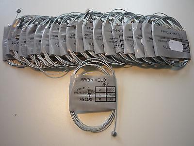 lot 10 cables de frein  vélo route 15//10éme 1m80 neuf