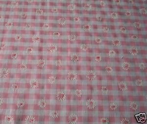 Curtains Pink Gingham Daisy Inches 54 Wide X 63 Long