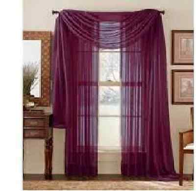 8 panels  PLUM PURPLE SHEER Window Treatments CURTAINS DRAPES GREAT DEAL!