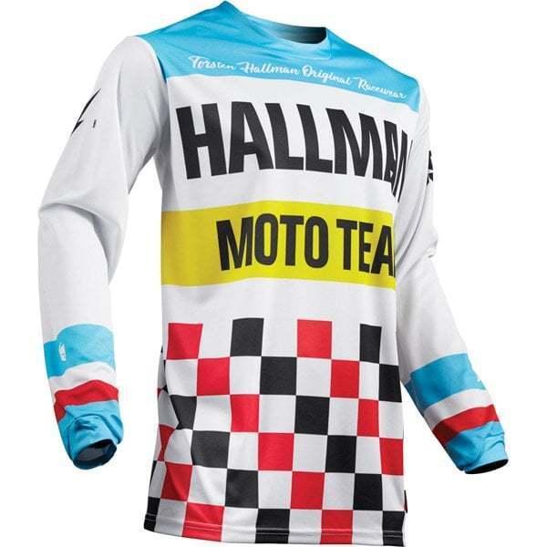 THOR Adulti Hallman Riscaldatore Classico Retrò Motocross MX MotoX bike jersey