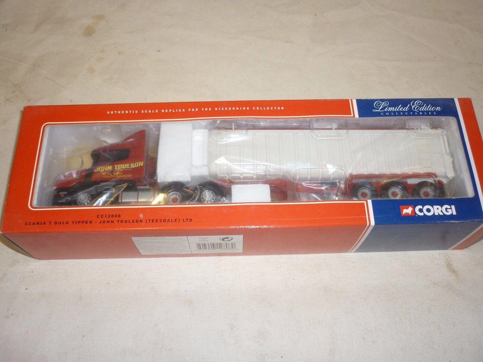 CORGI, CC 1280, Scania T Cab Avec Benne Remorque, John Toulson Teesdale Ltd.