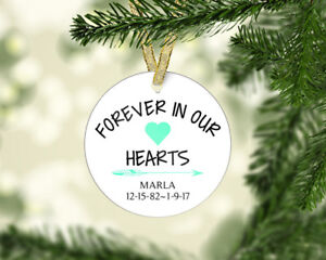 personalized memorial lost loved one christmas ornament 4 styles