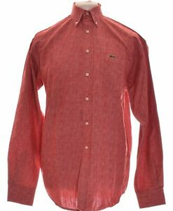Chemise Manches Longues Lacoste Taille 40 - T3 - L Rouge Homme