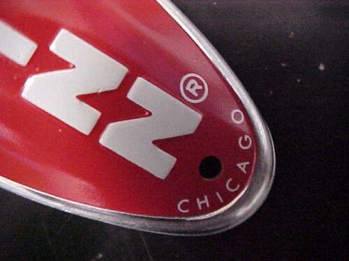 Red Schwinn Stingray BMX bicycle head badge nameplate Emblem  nos
