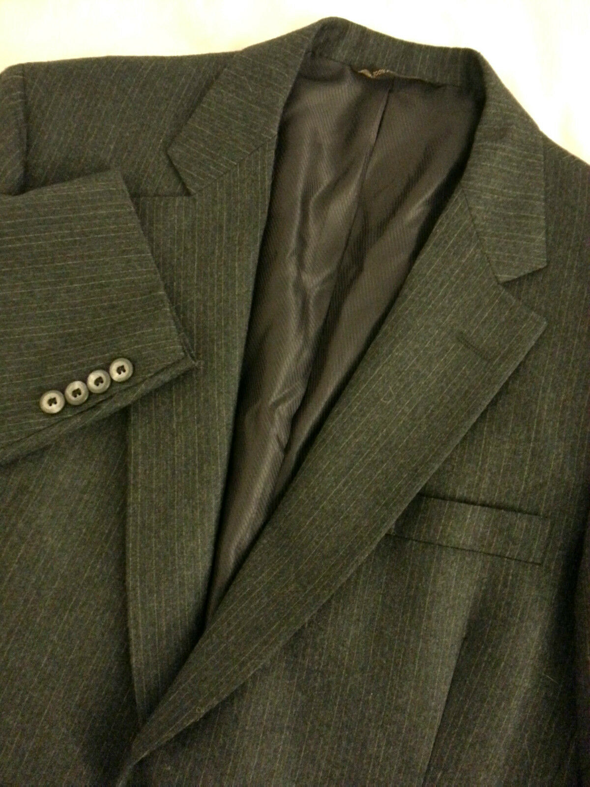 HART SCHAFFNER & MARX Men's 2 Button Blazer Sport Coat Charcoal Pinstripe Sz 42R