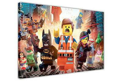 POP ART LEGO MOVIE CANVAS WALL ART PHOTOS KIDS POSTERS PICTURES WALL PRINTS