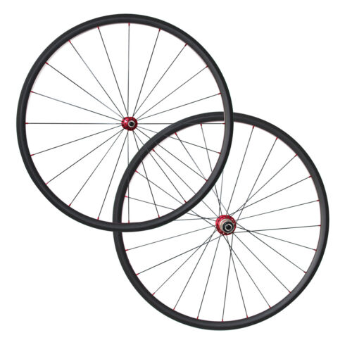 1060g 700C T800 24mm Tubular Carbon Road Bicycle Wheelset R13 CN424 Spokes