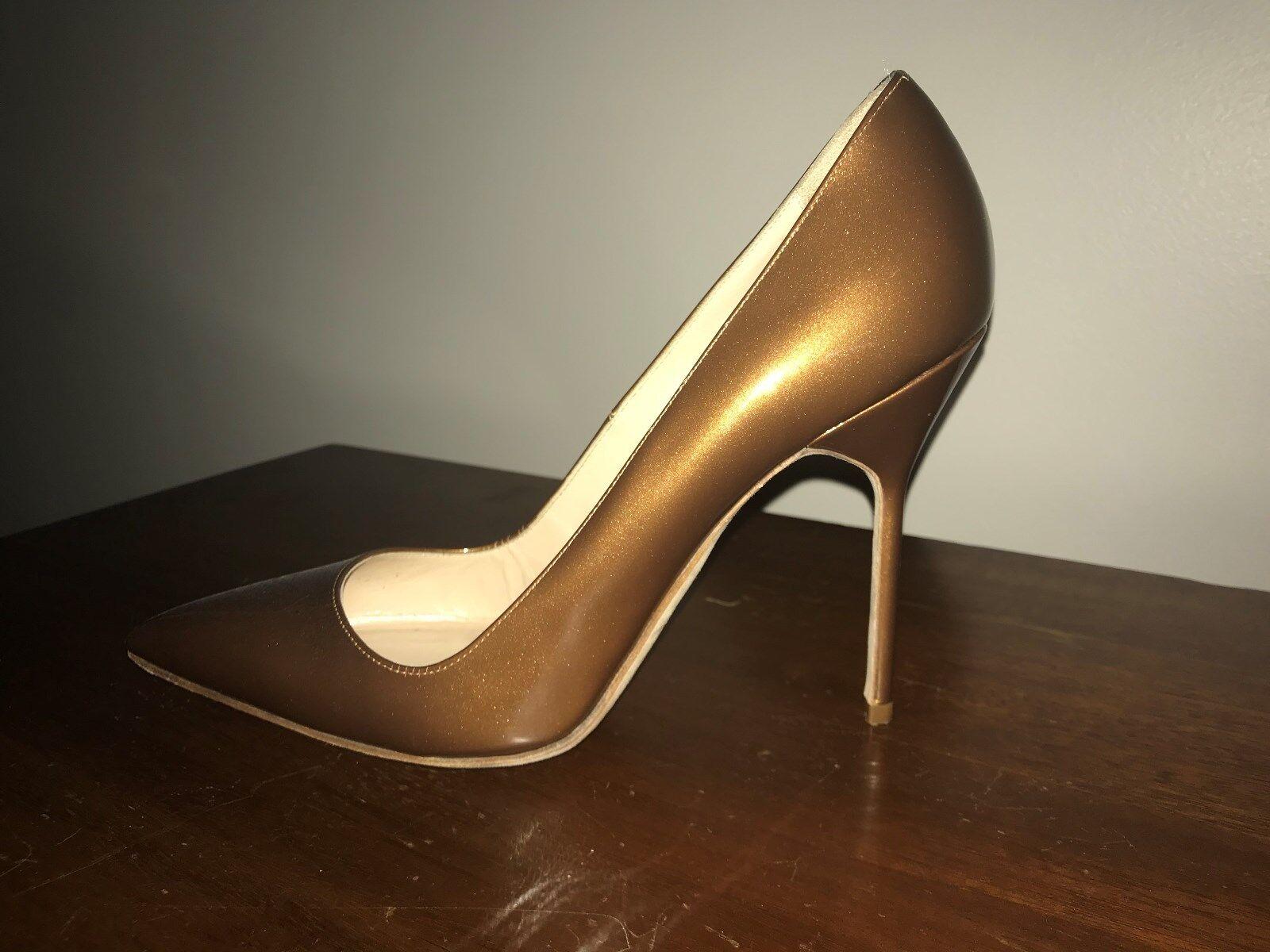 Manolo Manolo Manolo Blanik marron Bronze Patent Leather High Heel Pumps Taille 39 US 8.5 9b0e03