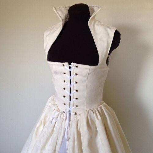 Off White Irish Wedding Celtic Renaissance Dress Gown Costume  /& more colors!