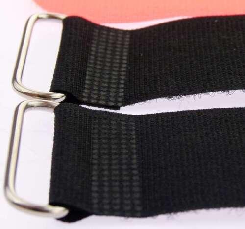 20x Klettband Kabelbinder 40 cm x 40mm neon rot Kabel Klettbänder Kabelklettband