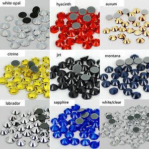 Flatback-white-AB-Iron-on-rhinestones-Hotfix-stones-glass-crystals-for-clothing