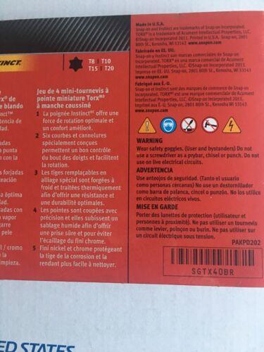 RED Snap-on  Instinct Soft Grip Mini Torx Set