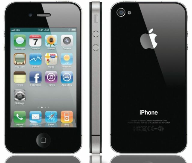 Apple iPhone 4 8GB WiFi Verizon Wireless Black Smartphone Clean Esn