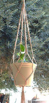Macrame Plant Hanger 36in Vintage *SAND* 4mm