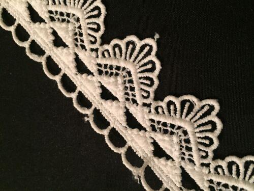 Vintage Bridal Christening 1m Cotton Off White Venise Guipure Lace//Trim