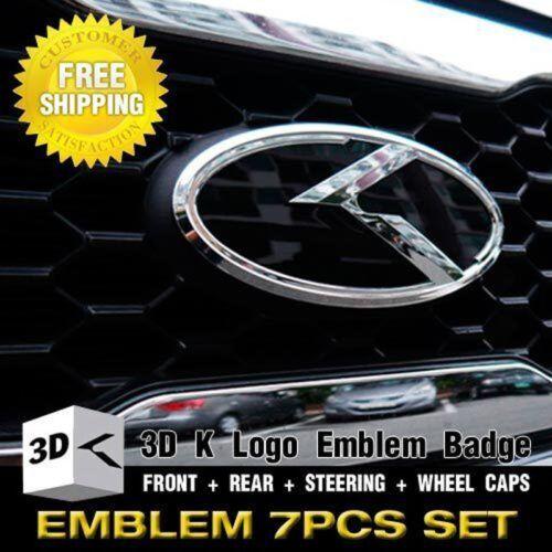 3D K Logo F R Steering Wheel Emblem Badge 7pcs For KIA 2014-2018 Cerato Koup