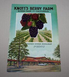 1950 knotts berry farm menu booklet chicken dinner restaurant buena