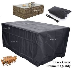 details about waterproof garden patio furniture cover rectangular outdoor rattan table cover rh ebay co uk rectangular patio tablecloth with umbrella hole rectangular patio table cover