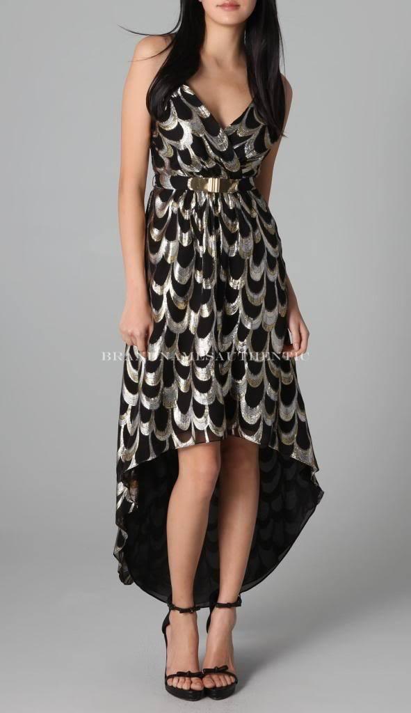 Milly Runway Celebrity Silk Jacquard Disco Dress (10)