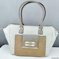Newest Rare Guess Collections Handbag Ladies Maluca Totes Bag Stone Multi Purse