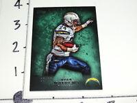 2012 Topps Inception Ryan Mathews 28 Green Sp/75 Chargers Fresno St Bulldogs