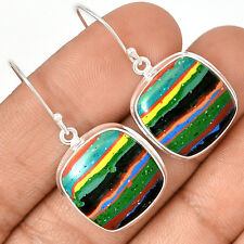 Rainbow Calsilica 925 Sterling Silver Earrings Jewelry RBCE570