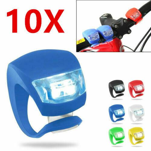 Fahrradlampe Fahrradlicht LED Silikon Vorne Hinten beleuchtung licht-Blau