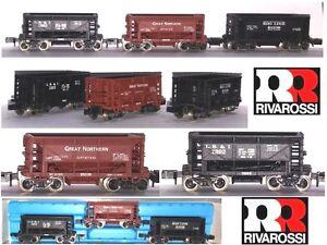 Rivarossi Atlas 2499 Vintage Rare Set 3 Wagons Transport Mine Usa Boîte