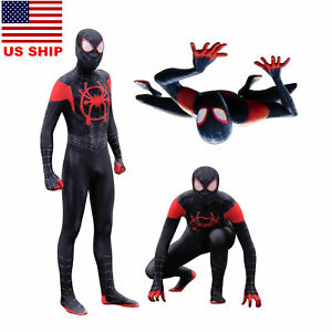 Us Spider Man Into The Spider Verse Miles Morales Zentai