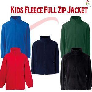 Kids-Unisex-Outdoor-Fleece-Breathable-Pill-Resistant-Full-Zip-Jacket-Winter-Warm