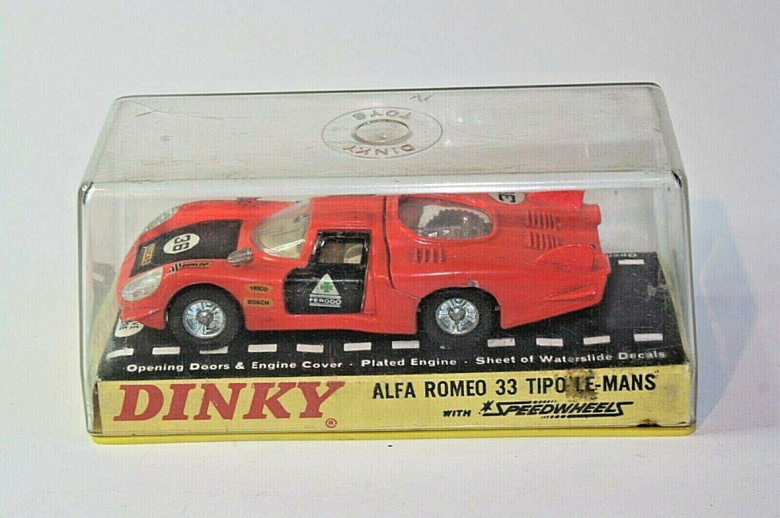 Dinky 210 ALFA ROMEO 33  TIPO LE hommeS, bonne dans boîte d'origine  connotation de luxe discret