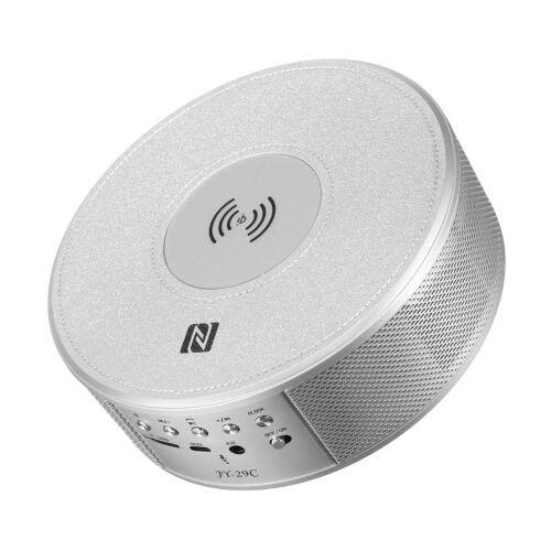 8in1 Qi Wireless Ladegerät Power Bank bluetooth Radio Lautsprecher FM NFC Wecker