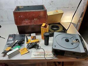 Rare-Kodak-Ektragraphic-III-AS-Slide-Projector-100-150mm-Zoom-Lens-W-Orig-Case