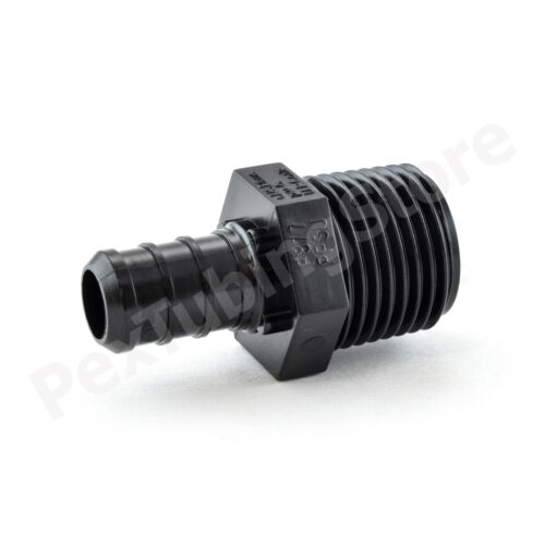 "50 1//2/"" PEX x 1//2/"" Male NPT Adapters Poly Alloy Lead-Free Crimp Fittings"