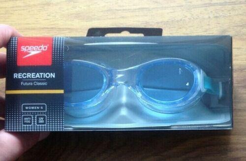 Speedo Women/'s Futura Biofuse Goggles Free UK Postage Clear//Blue