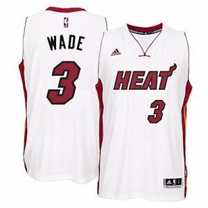 the latest af22e eef02 Details about adidas Men's Miami Heat Dwyane Wade Christmas Day Swingman  Jersey LG WHITE