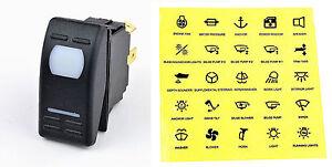 12-Volt-Kippschalter-Symbole-Tastschalter-Drucktaster-Schalter-12-Volt-Boot-KFZ