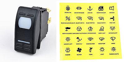 12 Volt Kippschalter Symbole Tastschalter Drucktaster Schalter 12-Volt Boot KFZ
