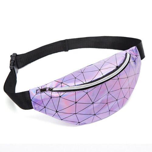 Women/'s Sequins Rhombus Waist Bag Crossbody Shoulder Zipper waterproof geometric
