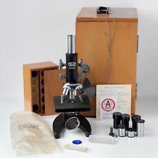 Vintage Kyowa Ka Microscope Three Objectives Three Eyepieces Mirror Box