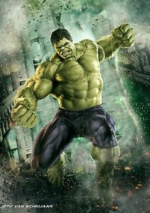 Die Hulk Poster Marvel Avengers Infinity Krieg Wandbild Photo Print