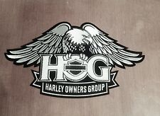 "HARLEY OWNERS GROUP ""HOG"" LARGE SILVER EAGLE PATCH ""SHIPS INTERNATIONAL"""